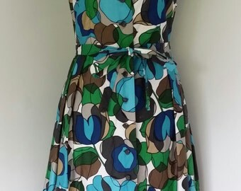 """35"""" Bust Vintage 50's 60's Abstract Pattern Dress"""