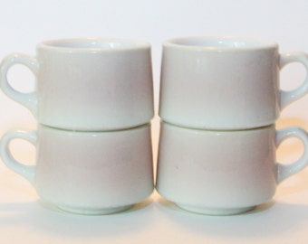 Shenango China Set of 4 Cups/Mugs, C-22 Restaurant Ware, Vintage, EUC
