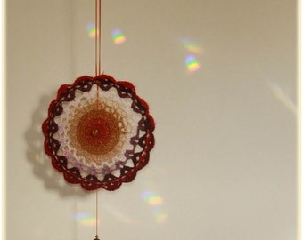 Hanging Mandala & Sun-catcher ~ Crochet Art   #17