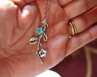 Branch Necklace,  flower Necklace, tree branch,tree