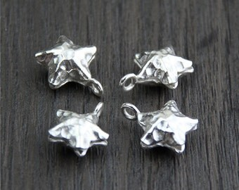2 Karen hill tribe Sterling Silver Star Charm