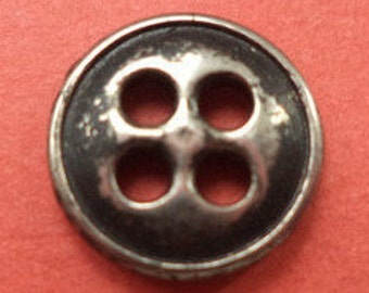 15 metal buttons silver 11 mm (6112) button metal buttons
