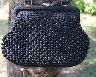 Black handle bag 1950