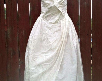 Vintage Ivory Wedding Prom Dress Size 9 10