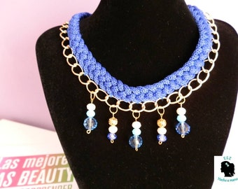 Marine necklace with Rhinestones