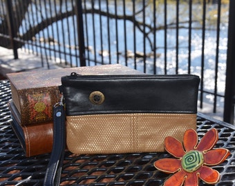 Genuine Leather Wristlet, Leather Clutch, Leather Pouch, Nitabag