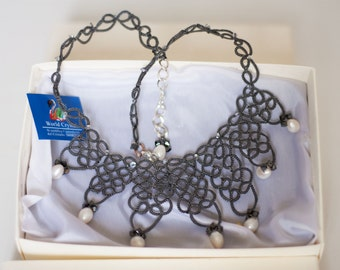 Handmade-Necklace tatting Nefertari