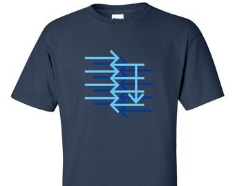 Geometric Arrow Design MAN'S T-SHIRT