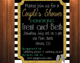 wedding shower invitation couples wedding shower invitation his and hers wedding shower invitation