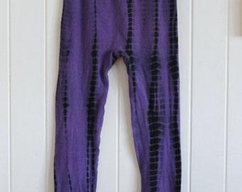90's tie dye, purple, black, hippie, yoga, doof, festival leggings, tights, pants