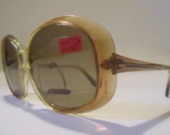 Large Vintage Sunglasses Oversized sunglasses occhialei Italianline NEW NEW year 1970/80