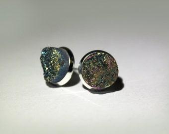 GORGEOUS RAINBOW DRUZY Earrings (no.2)