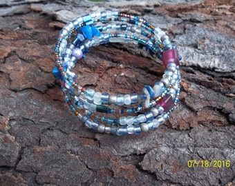 Shades of Blue Memory Bracelet