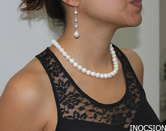 925 Sterling Silver Condesa Pearl Necklace  (NE-1007N)