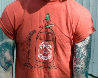Frank Sriracha Shirt - PUN PANTRY food, funny, pun, music, hot, instagram t-shirt, tee, red, hipster, tee, shirt, tshirt, asian, graphic