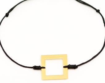 Polygon square Gold Bracelet