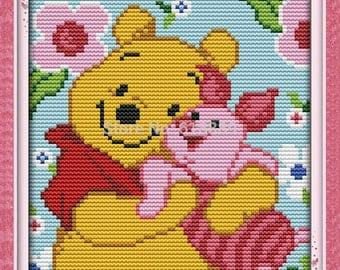 Winnie the Pooh and Piglet Cross Stitch Kit