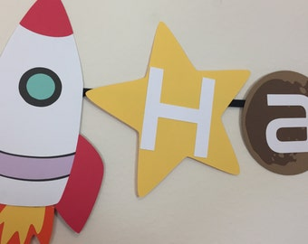 Space Banner, Outer Space Banner, Planet Banner, Rocket Banner, Space Party, Outer Space Party, Planet Birthday Party, Space Birthday,