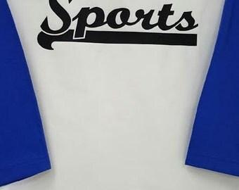 Sports baseball tee