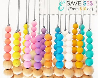 EFFORTLESSLY CHIC COLLECTION - Silicone Wood Necklace | Layer them Up | Build your Own | You Choose Colours | Cool Urban Fashion