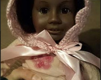 Knitted Pink Baby Bonnet
