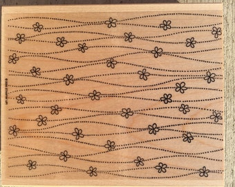 Dots and Daisies Wood Mounted Rubber Stamp from Stampin Up
