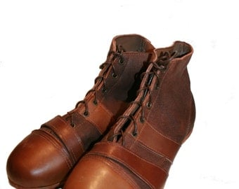 Handmade Vintage Style Leather Adult's Football / Rugby Boots - A Sporting Gift