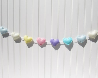 Heart banner / garland / bunting - pastel - Nursery decoration