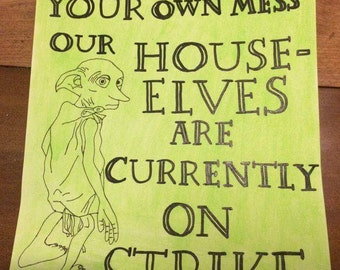 House Elves on Strike Painting