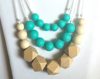 The Huera- Turquoise Teething Necklace/Nursing Necklace