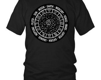 SUN MOON Zodiac Sign Mantra T-Shirt