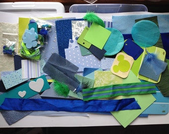 Collage Kit in Blue and Green