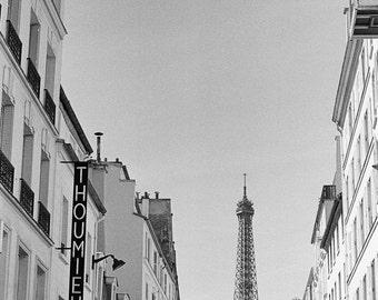 Stunning Eiffel Tower Paris Photograph, Paris Wall Art, French Home Decor, Black and White art, French, Parisian