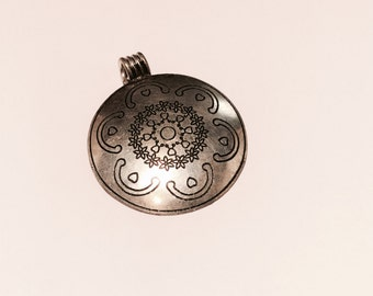 Handmade Metal pendant from India - 2 Pieces - #91