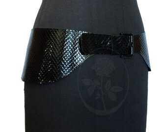 "Belt leather ""Rhombus"""