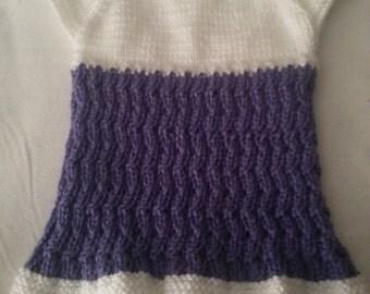 Hand knit baby dress