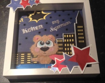 Personalised Superhero Bear Gift
