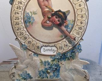 Vintage Style Paper Calendar