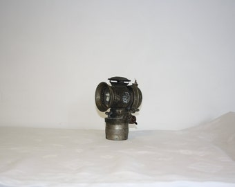 Antique bicycle lamp carbide