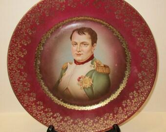 napoleon bonaparte france gold decoration portrait plate