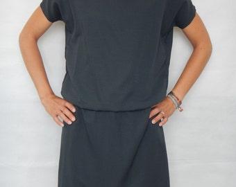 Rayon dress, open back dress