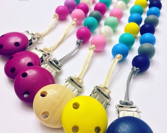 """The """"Original"""" Collection - Silicone Teething Pacifier Clip"""