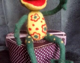 Felt frog Alvin