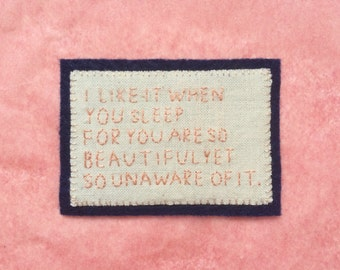 the 1975 hand embroidered patch