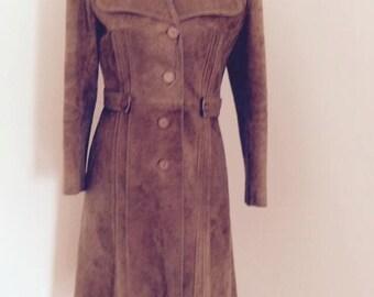 Vintage 3/4 length suede coat.