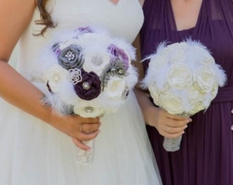 Fabric Brooch Bouquets
