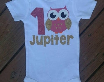 Look whooo's turning one, first birthday, owl theme, 1st birthday, birthday theme, girls birthday outfit