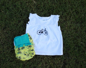 Custom Bicycle T-shirt or Bodysuit / Onesie