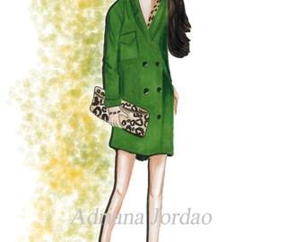 Fashion Print / Girly Wall Art / Dressing Room Art / Gift For Her / Fashion Marker Art/ Home Decor / Office Decor