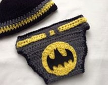 Batman hat and Nappy cover